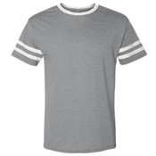 Pink Flock LionHead - 602MR Jerzees Adult 4.5 oz. TRI-BLEND Varsity Ringer T-Shirt