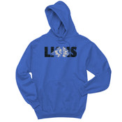 Glitter LIONS - 996 Jerzees Adult 8oz. 50/50 Pullover Hooded Sweatshirt